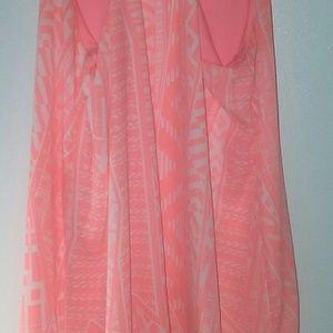 Dresses - Summertime Coral & White dress